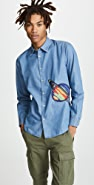 Paul Smith Saturn Embroidery Slim Fit Shirt