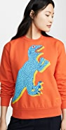 Paul Smith Orange Dino Sweatshirt