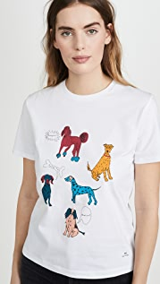 Paul Smith White Dog T-Shirt