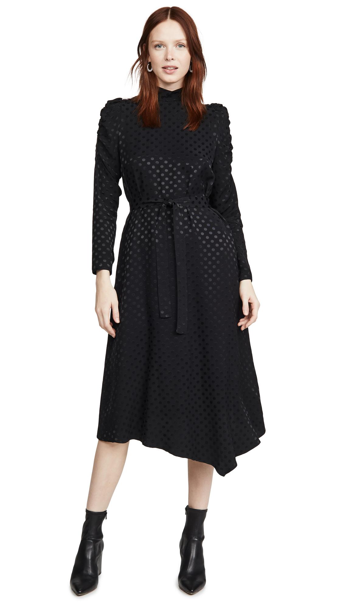 Paul Smith Black Long Sleeve Dot Dress - 40% Off Sale