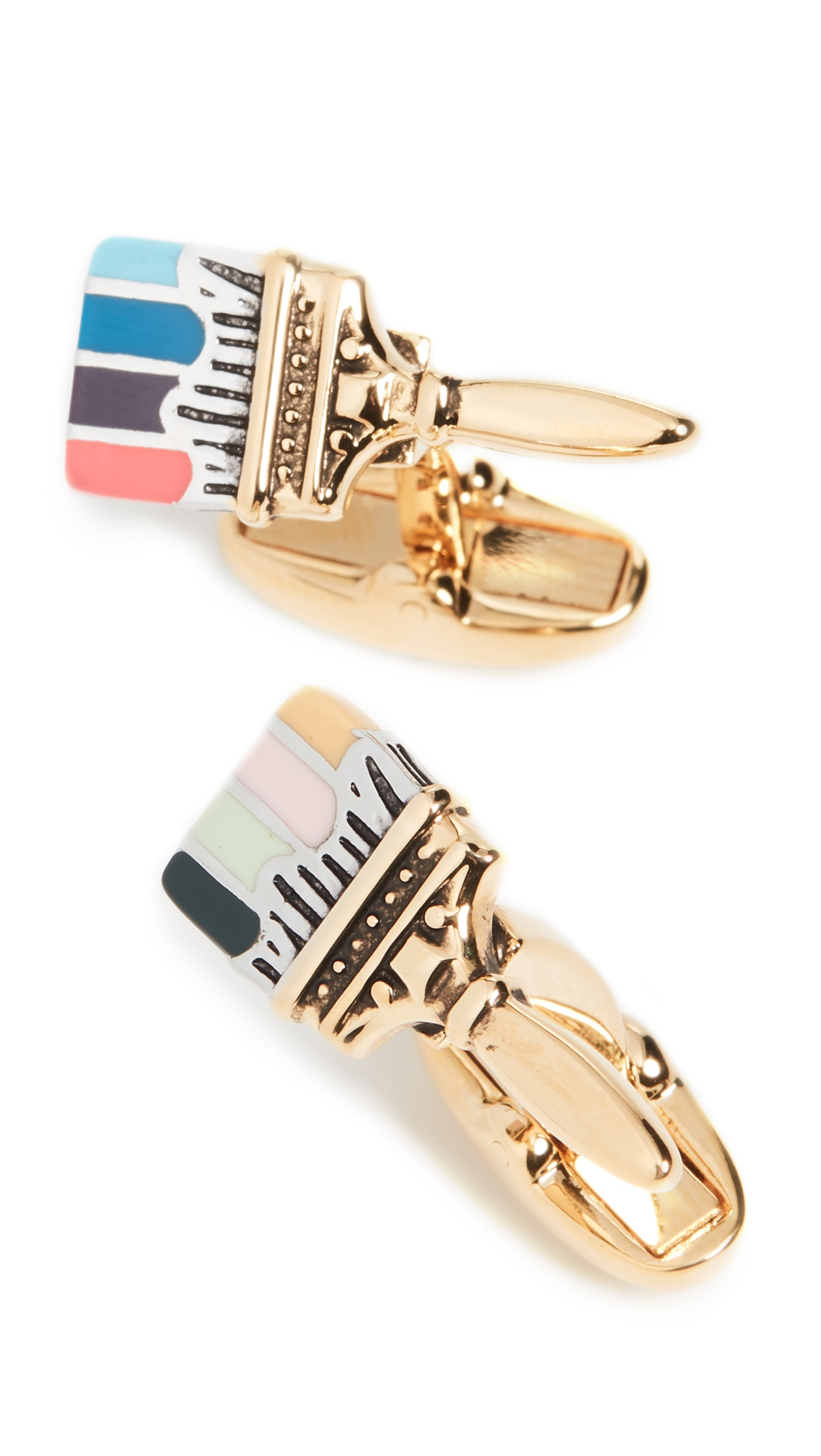 Paul Smith Accessories ARTIST PAINT BRUSH CUFFLINKS