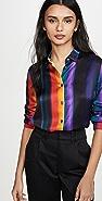 Paul Smith Rainbow Stripe Button Down Shirt