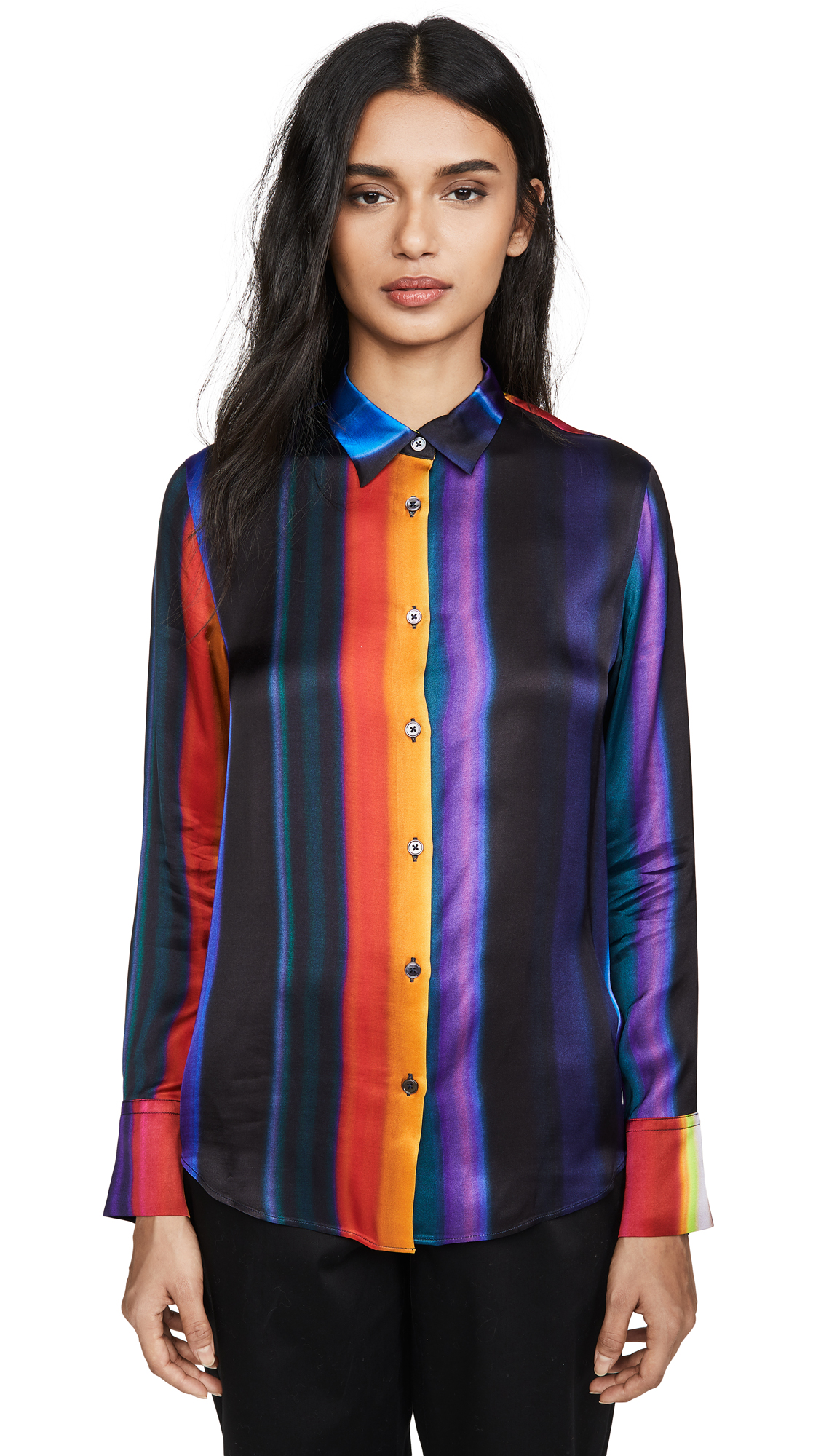 Buy Paul Smith online - photo of Paul Smith Rainbow Stripe Button Down Shirt