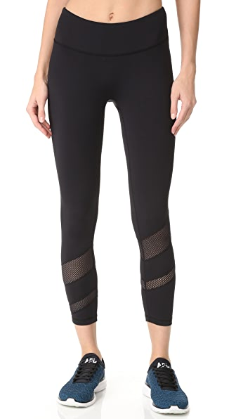 PRISMSPORT Candy Stripe 7/8 Leggings - Black