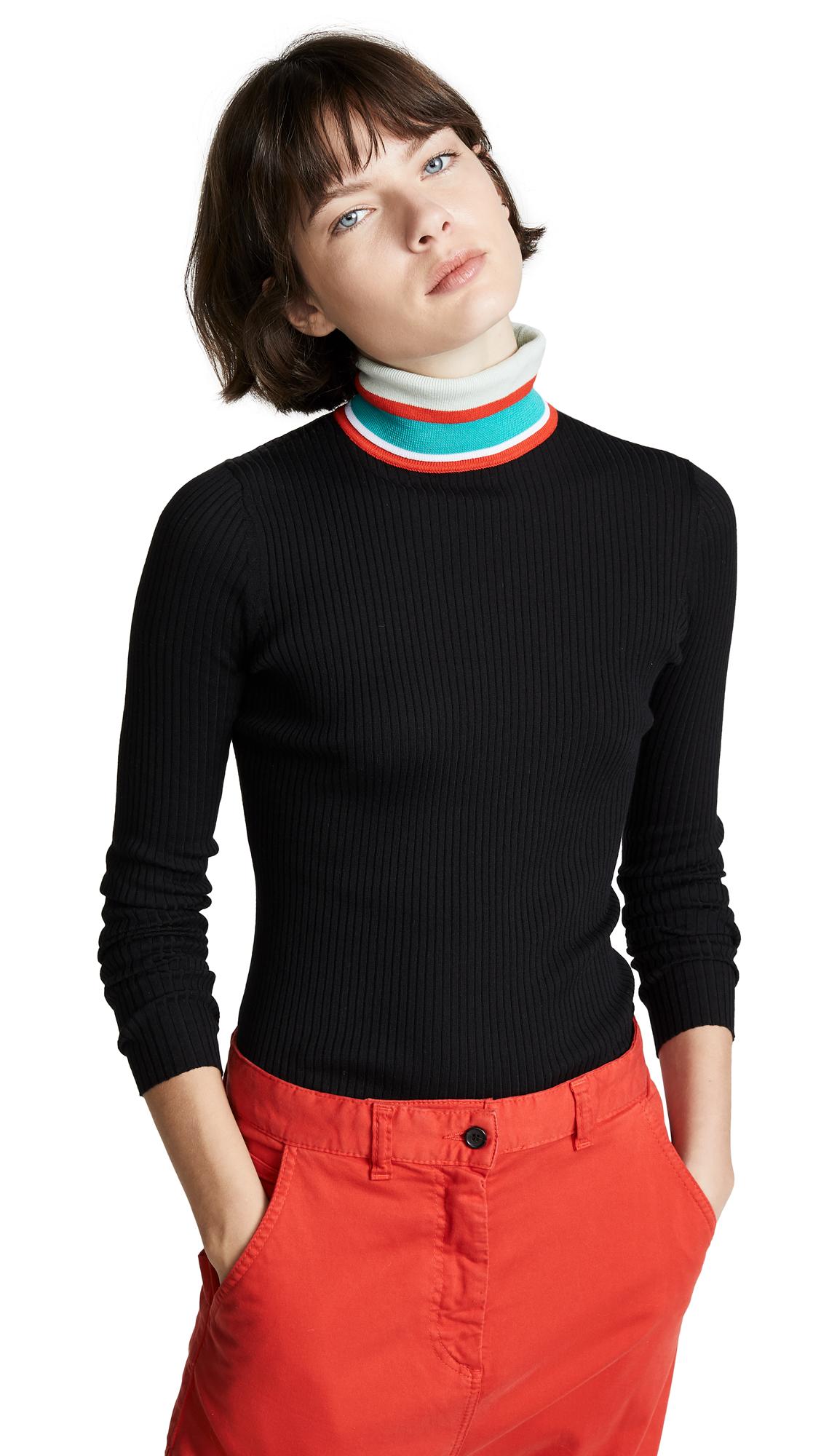 PSWL Knit Turtleneck in Black Combo