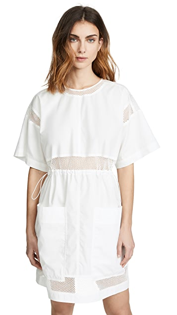 Proenza Schouler PSWL Short Sleeve Drawstring Dress