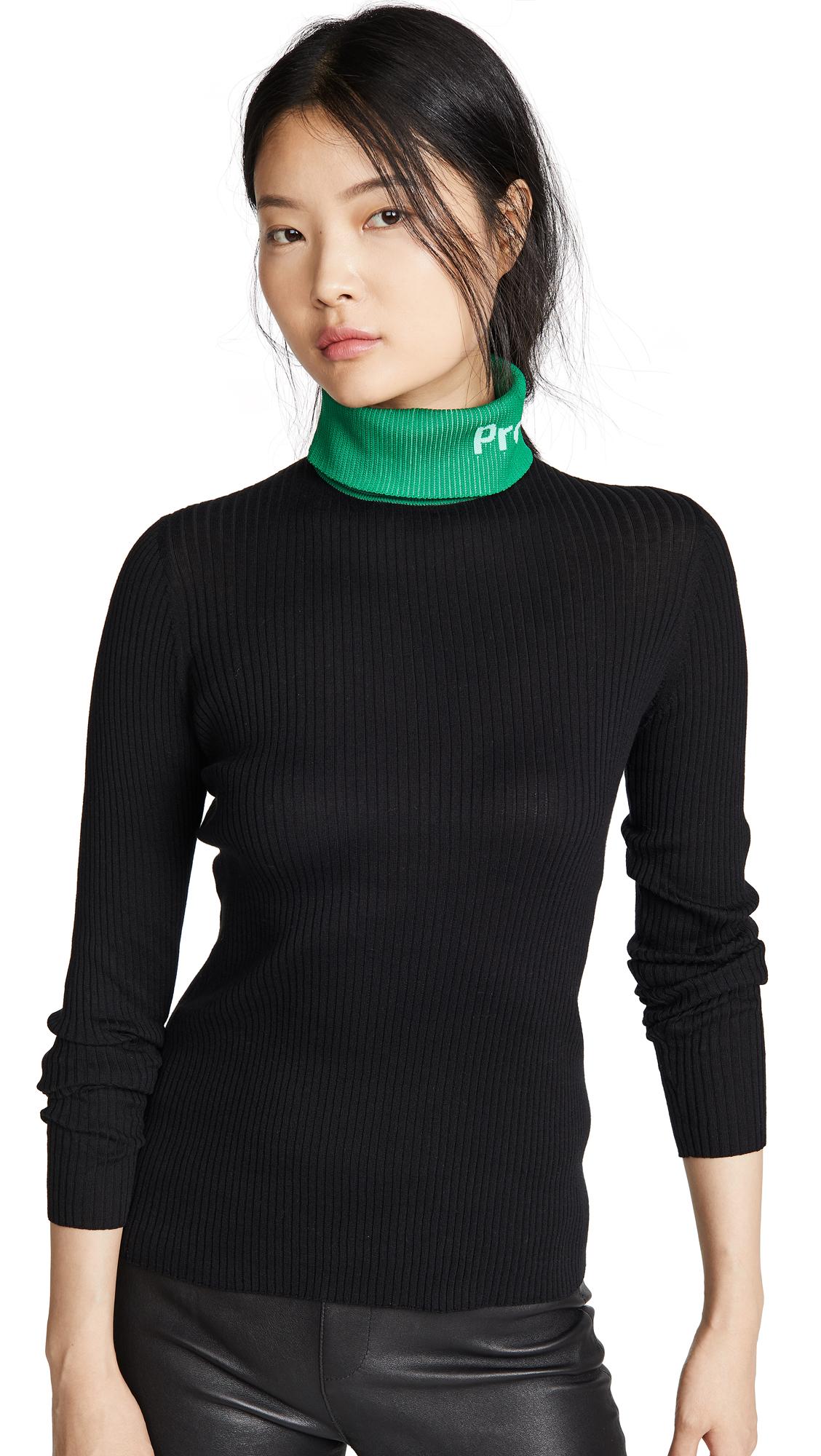 Buy Proenza Schouler White Label online - photo of Proenza Schouler White Label Long Sleeve Knit Turtleneck