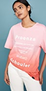 Proenza Schouler White Label Short Sleeve Tie Dye T-Shirt