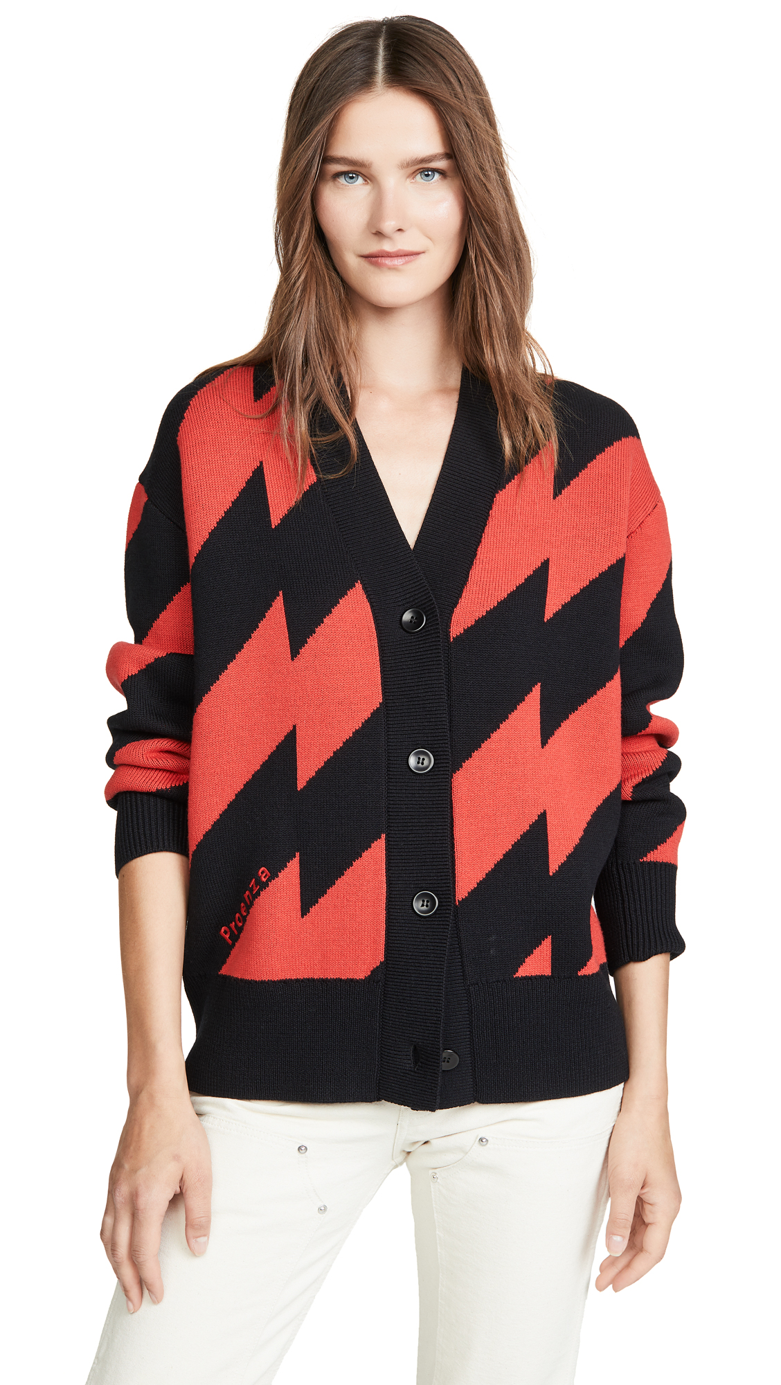 Buy Proenza Schouler White Label online - photo of Proenza Schouler White Label Jacquard Knit Cardigan