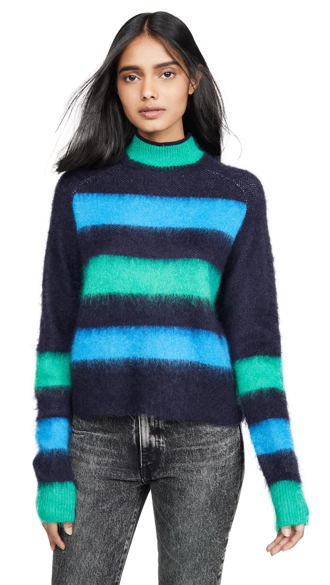 Buy Proenza Schouler White Label online - photo of Proenza Schouler White Label Long Sleeve Brushed Stripe Sweater