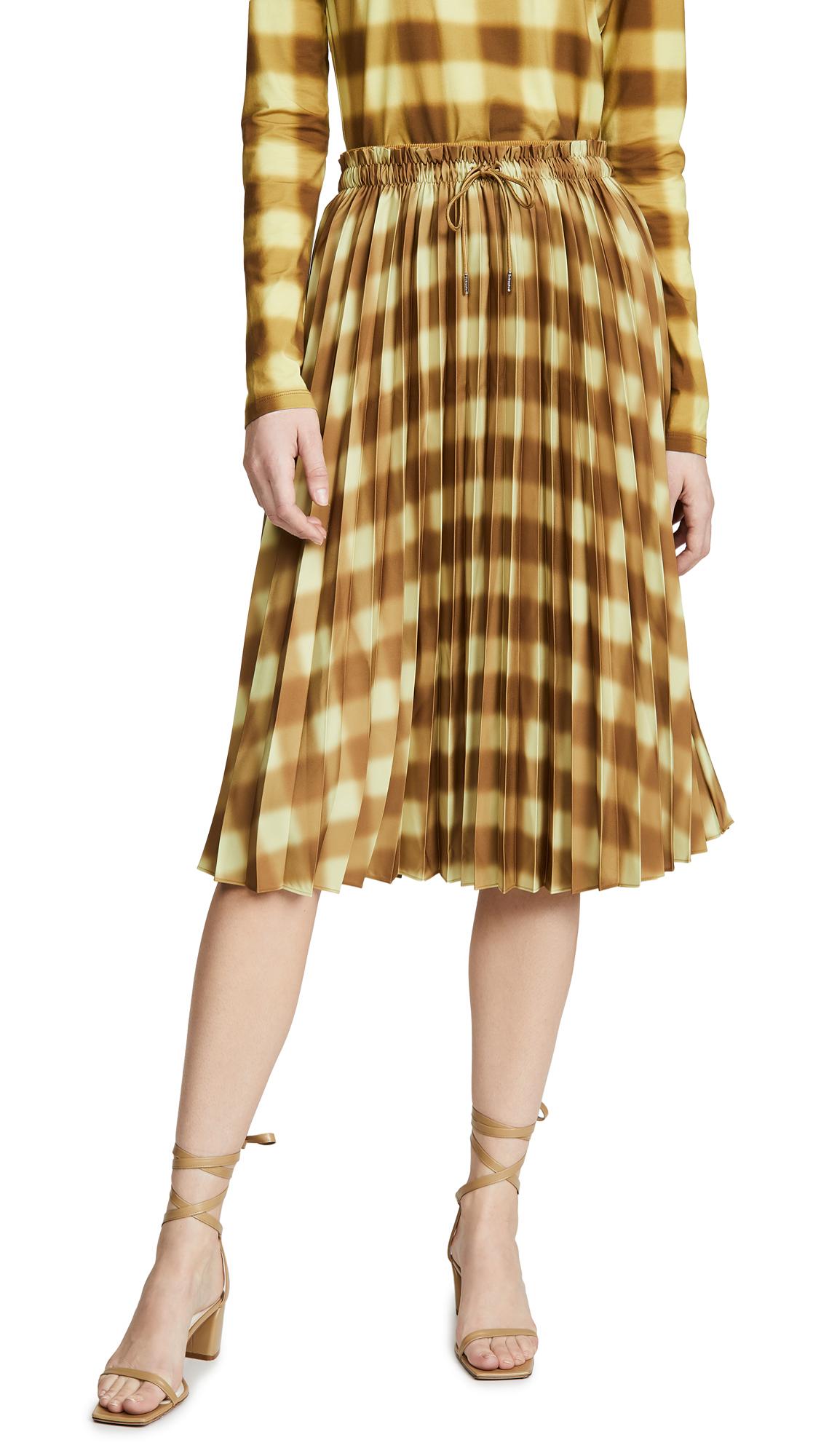 Buy Proenza Schouler White Label online - photo of Proenza Schouler White Label Georgette Pleated Skirt