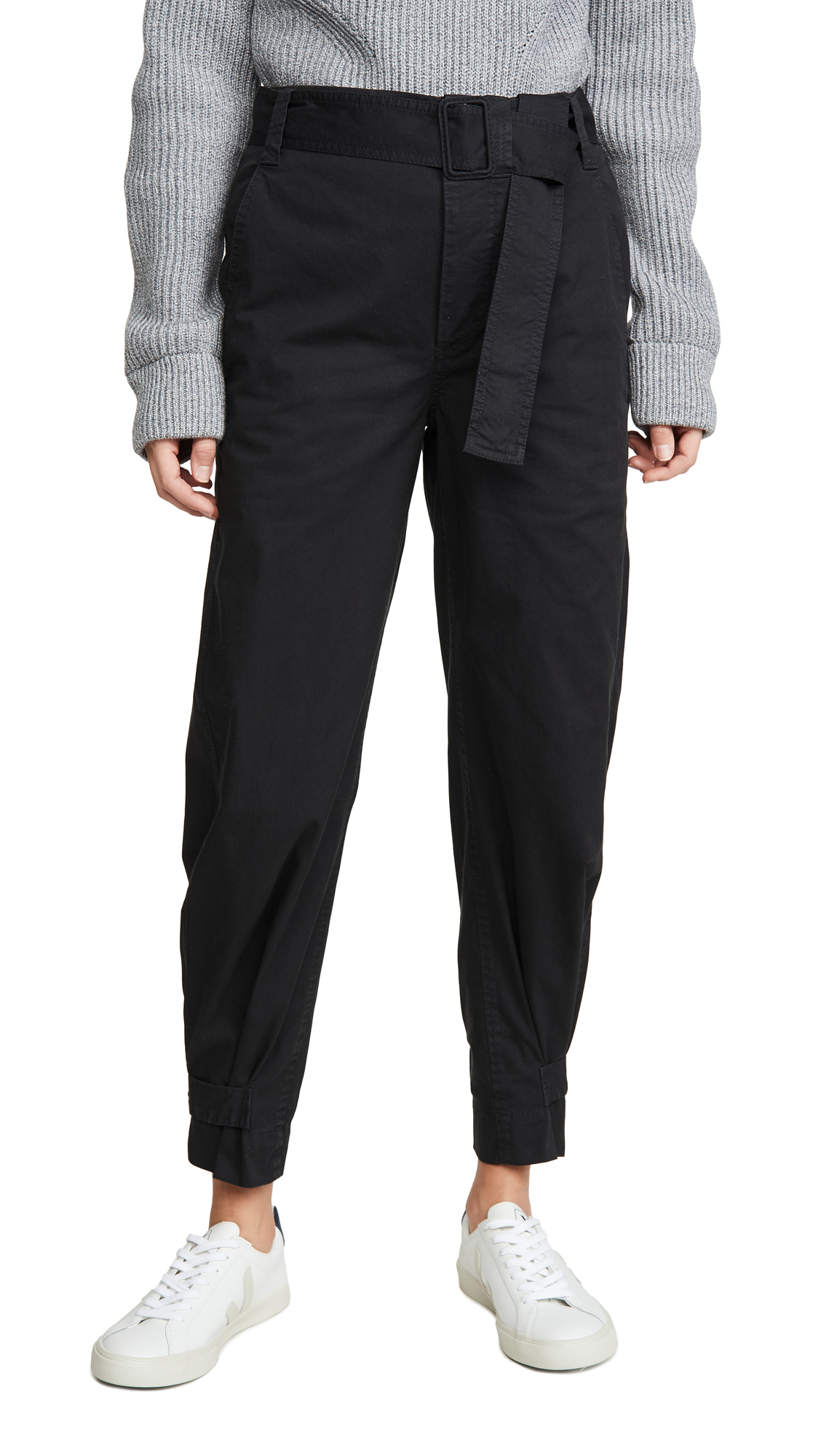 Buy Proenza Schouler White Label online - photo of Proenza Schouler White Label Cotton Belted Pants