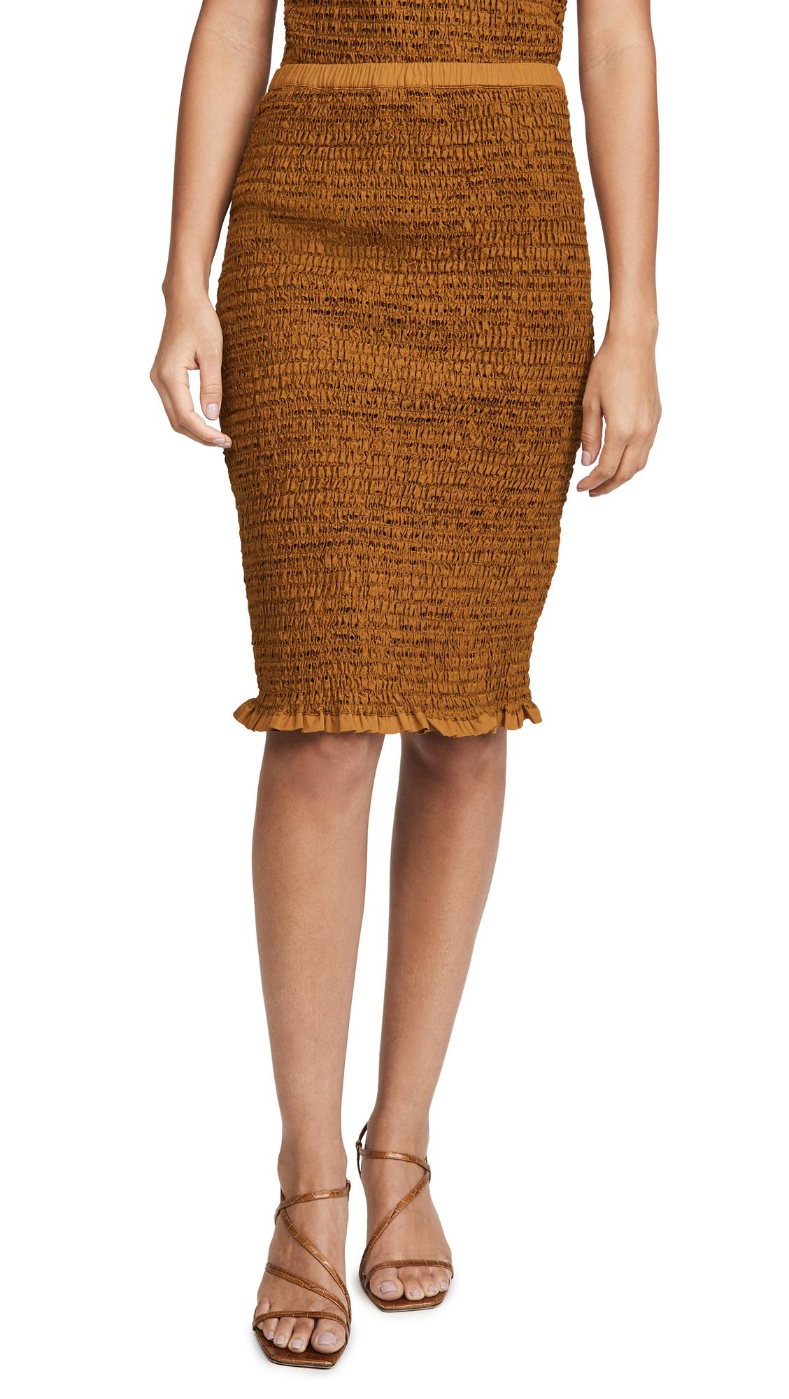 Buy Proenza Schouler White Label online - photo of Proenza Schouler White Label Smocked Skirt