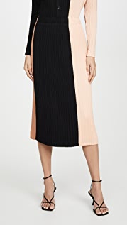 Proenza Schouler White Label Плиссированная юбка в стиле комбинации