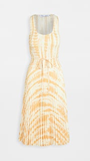Proenza Schouler White Label 裥褶裙身印花抽褶上衣