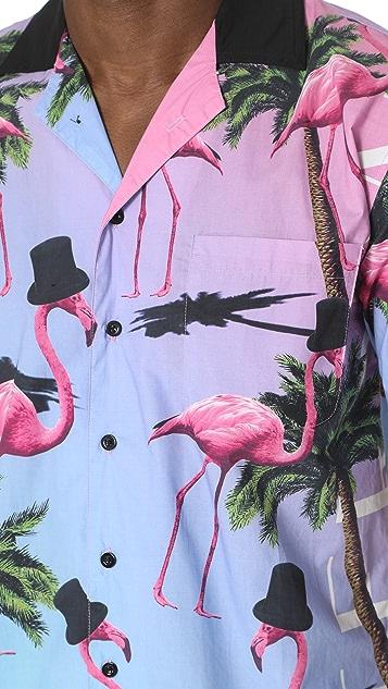 Paterson Flamingo Printed Shirt