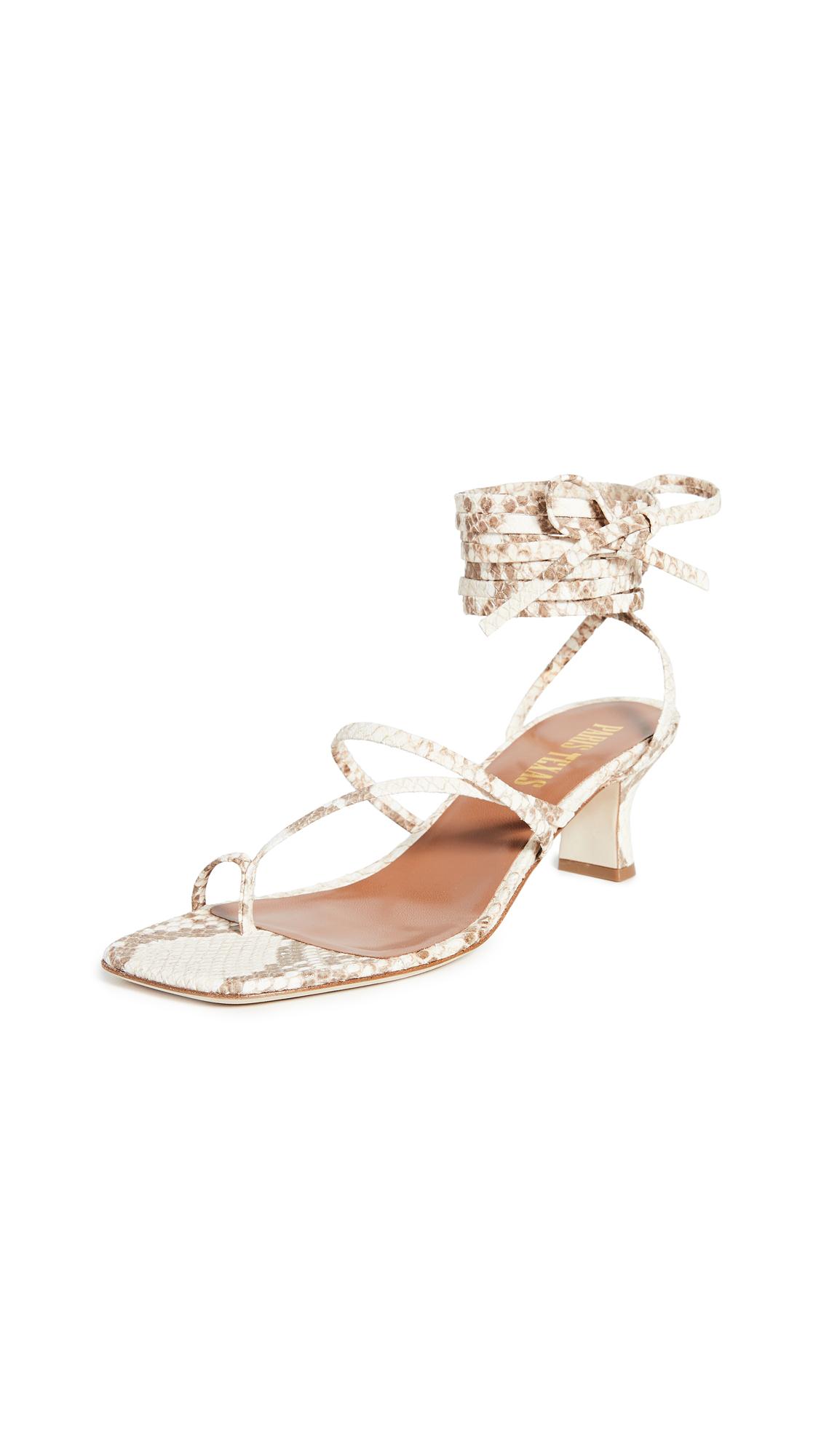 Buy Paris Texas Faded Python Print Wrap Sandals online, shop Paris Texas