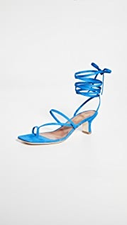 Paris Texas Suede Wrap Sandals