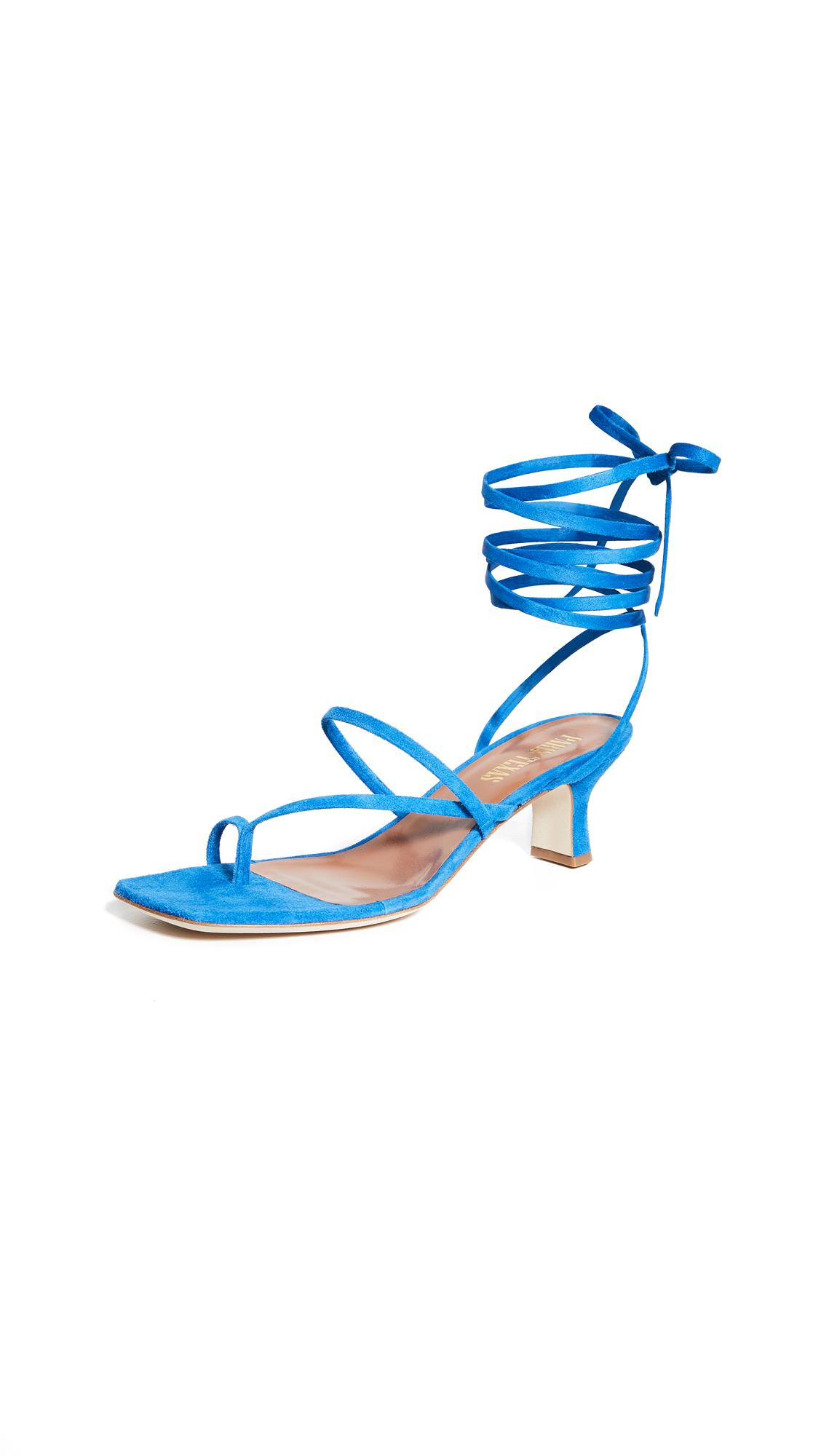 Buy Paris Texas Suede Wrap Sandals online, shop Paris Texas