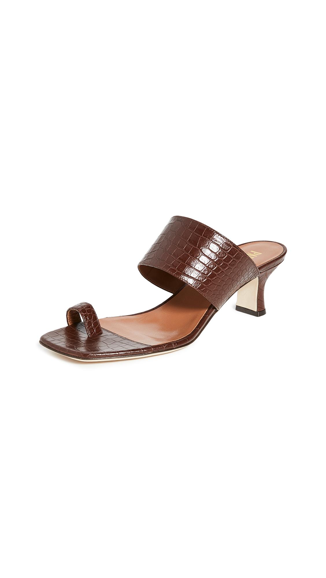 Buy Paris Texas Moc Croco Thumb Ring Sandals online, shop Paris Texas