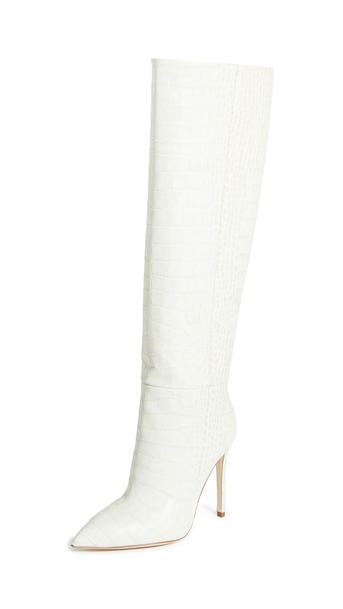 Paris Texas Soft Moc Croco Tall Boots - 30% Off Sale
