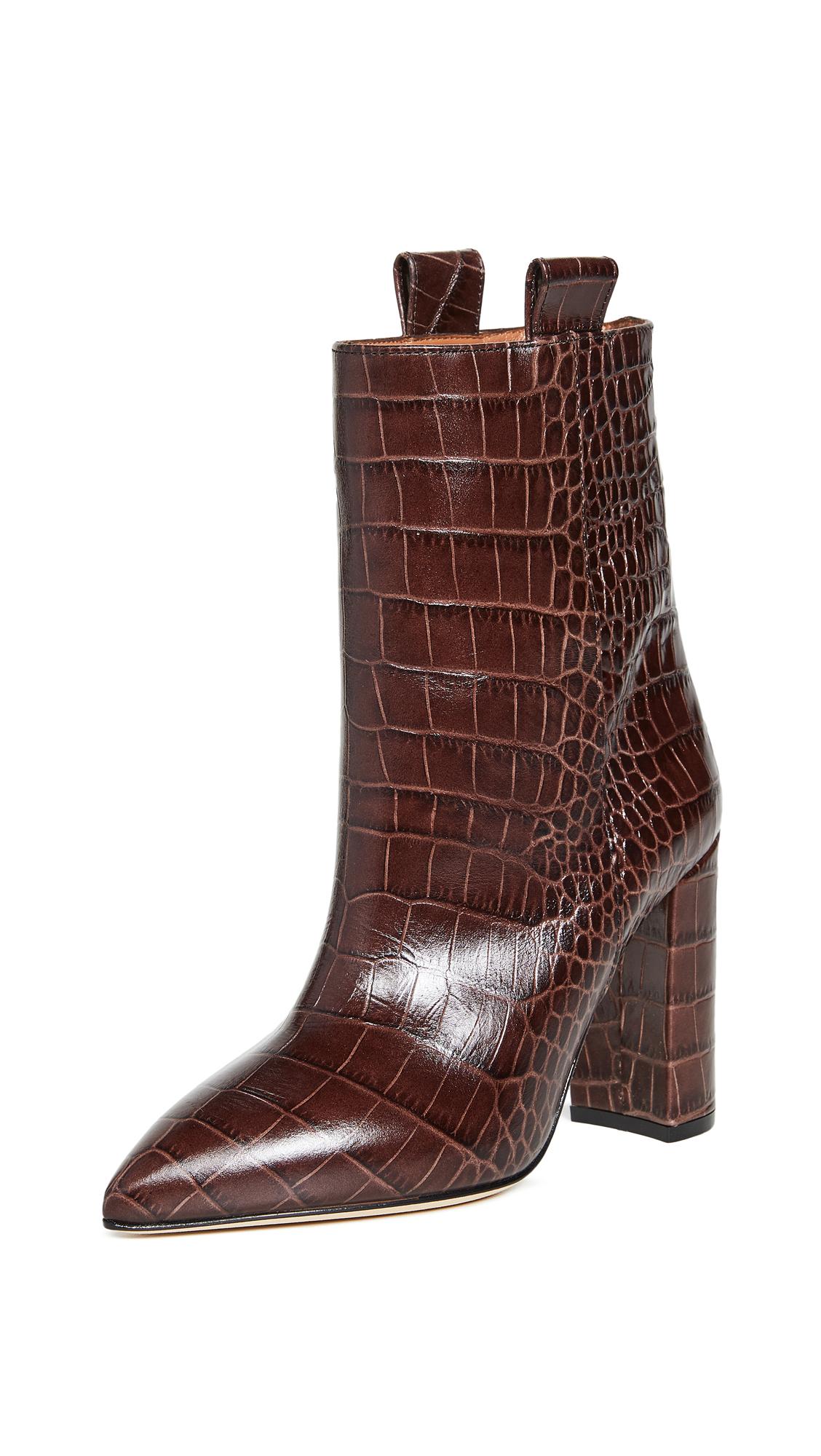 Buy Paris Texas Moc Croco Ankle Boots 100mm online, shop Paris Texas