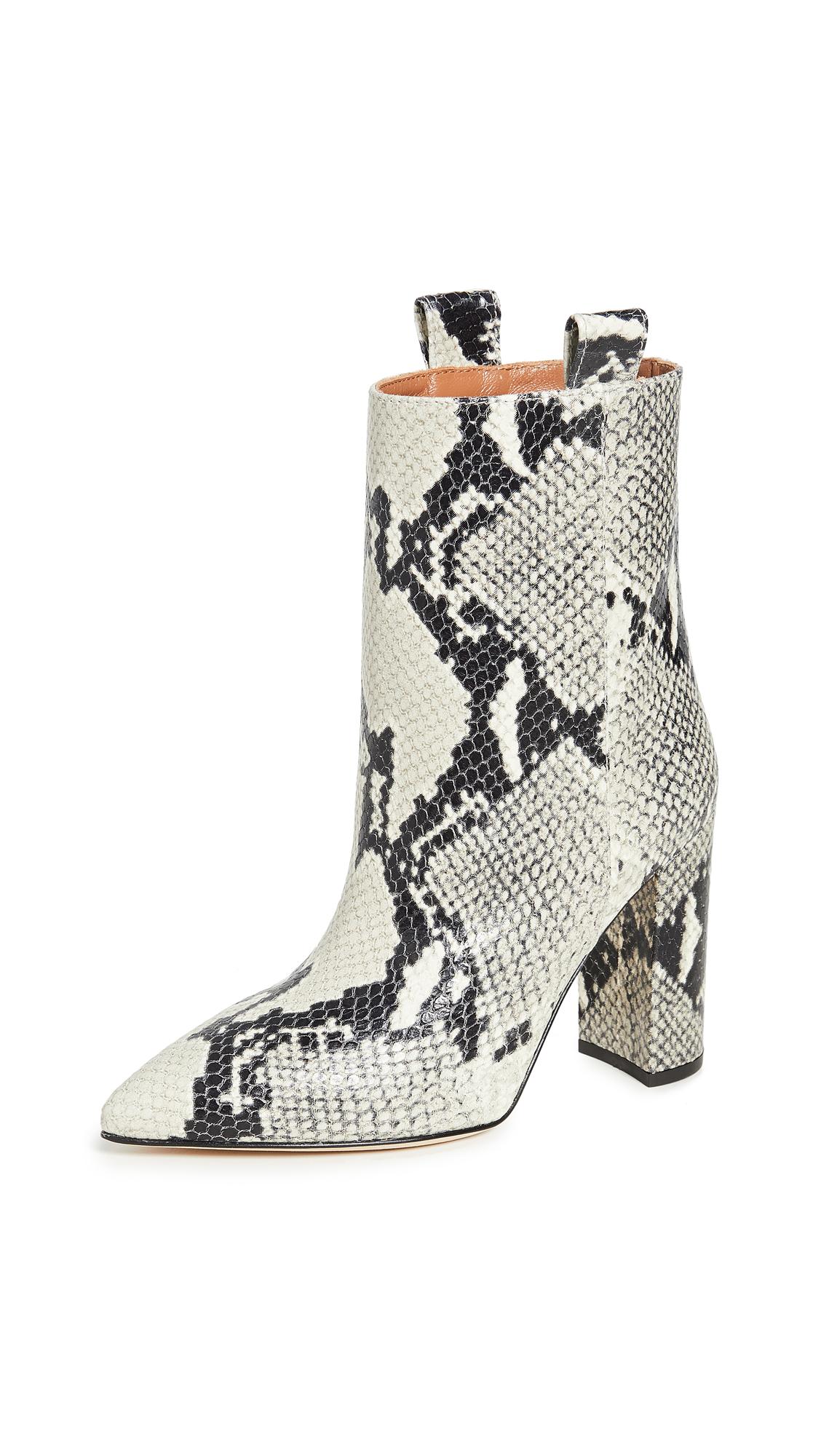 Buy Paris Texas Snake Print Ankle Boots 100mm online, shop Paris Texas