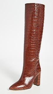 Paris Texas Сапоги Moc с тиснением под крокодила на каблуках высотой 100мм