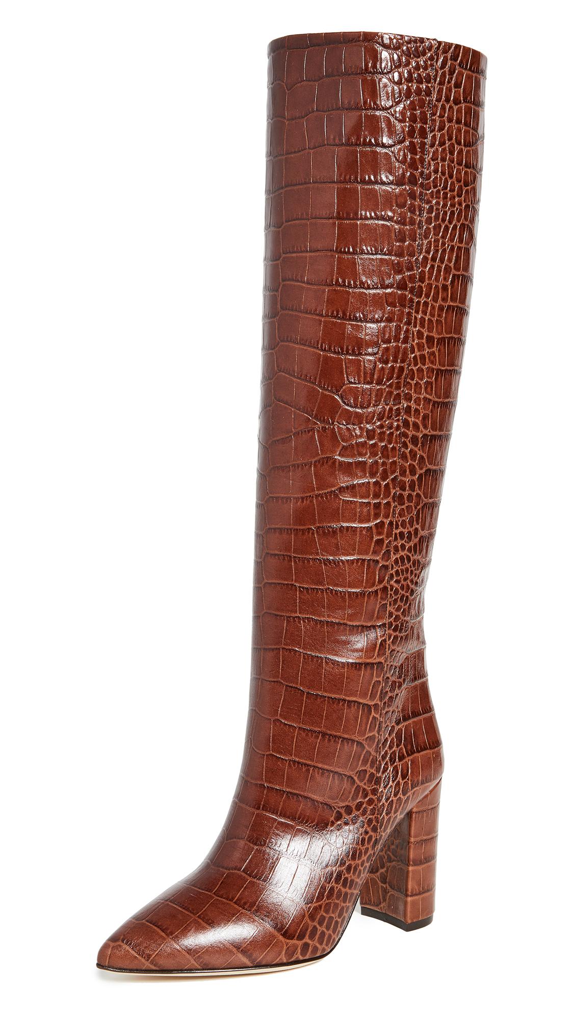 Buy Paris Texas 100mm Moc Croco Boots online, shop Paris Texas