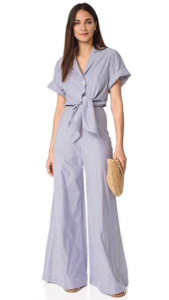 Petersyn Belle Jumpsuit - Navy Stripe