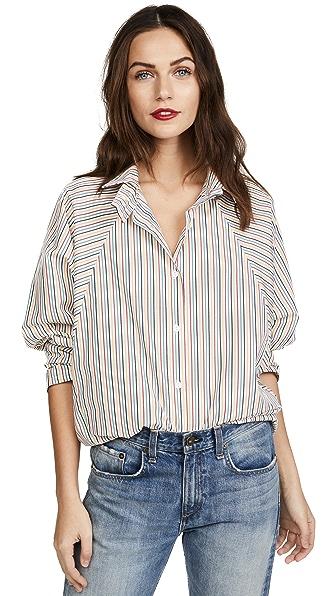 Bromley Button Down Shirt in Rainbow Stripe