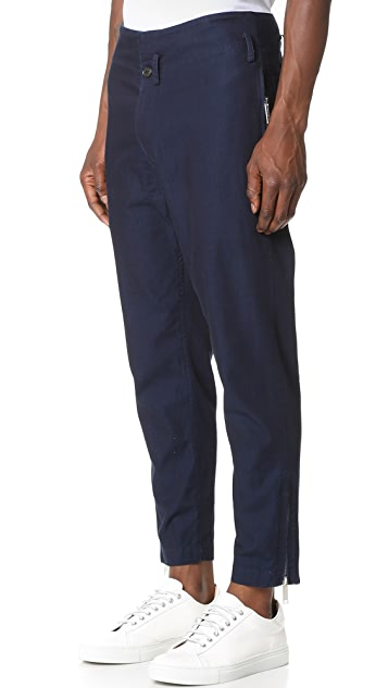 Public School Festhal Chambray Camme Flight Trousers