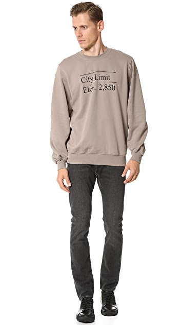 Public School Stoma Pullover with City Limit Print