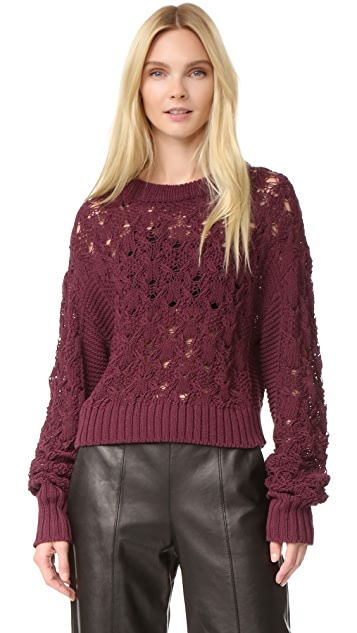Public School Seed Stitch Cable Pullover