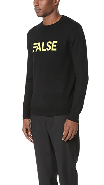 Public School False Crew Neck Pullover