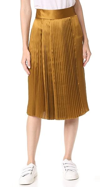 Public School Suc Gamil Skirt - Bone Brown
