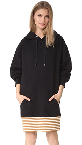 Public School Aza Zita Hoodie Dress - Black