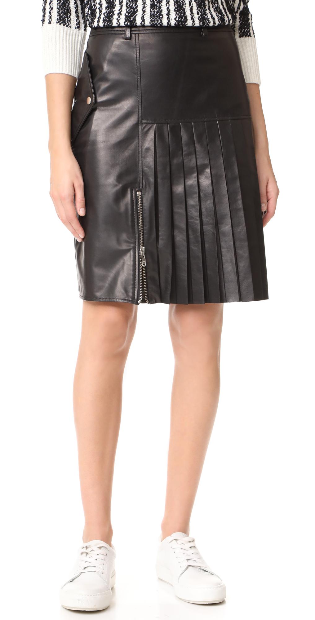 Ebele Leather Skirt Public School