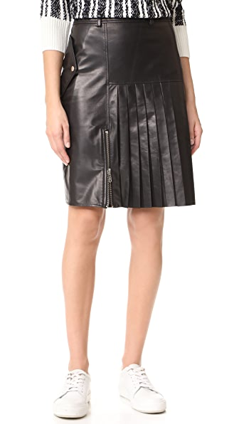 Public School Ebele Leather Skirt - Black