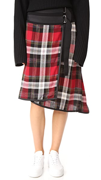 Public School Ilha Skirt - Red Plaid