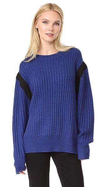 Public School Nabil Oversized Sweater In Royal Blue