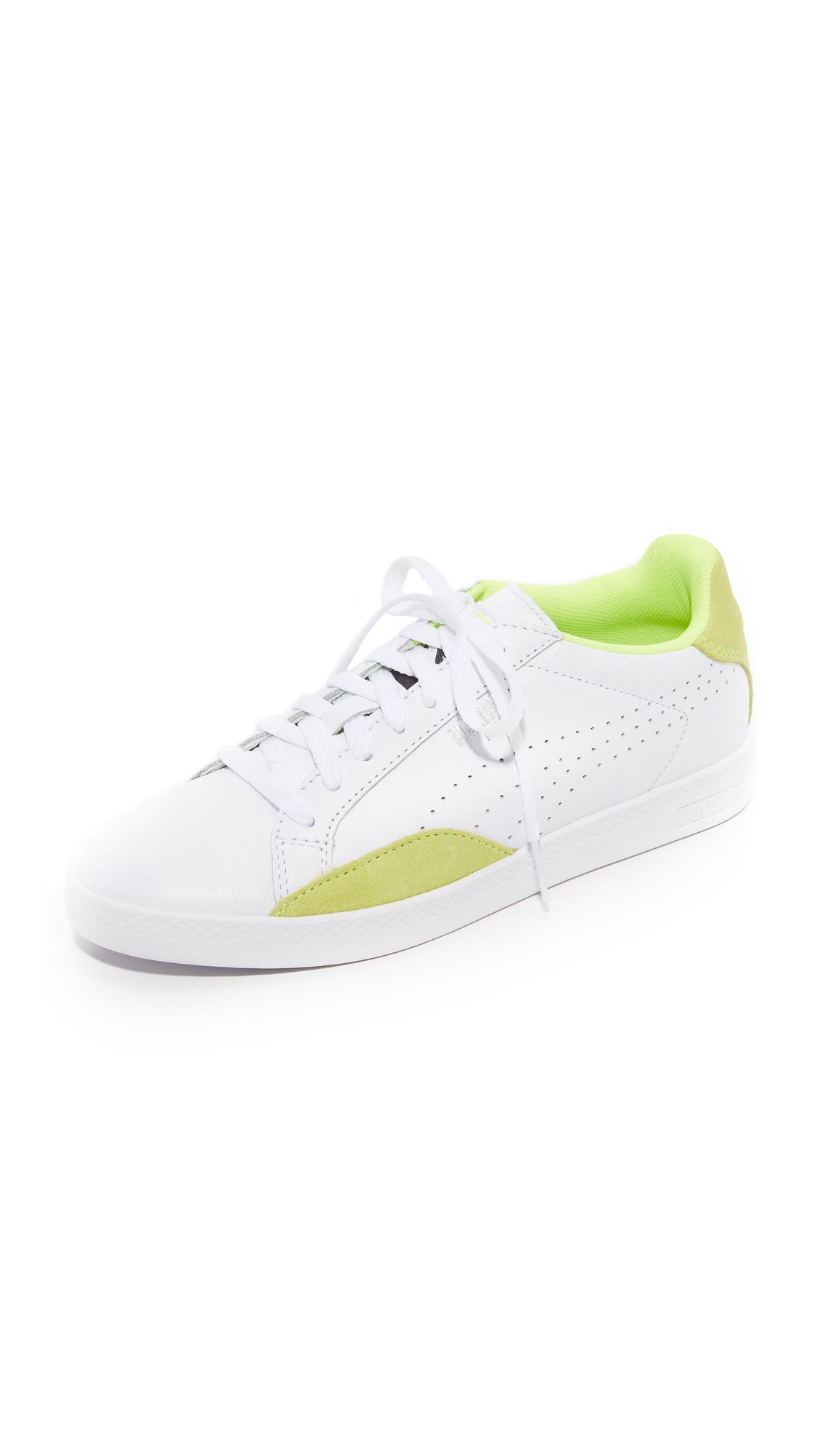 puma female puma match lo basic sports sneakers puma whitesafety yellow