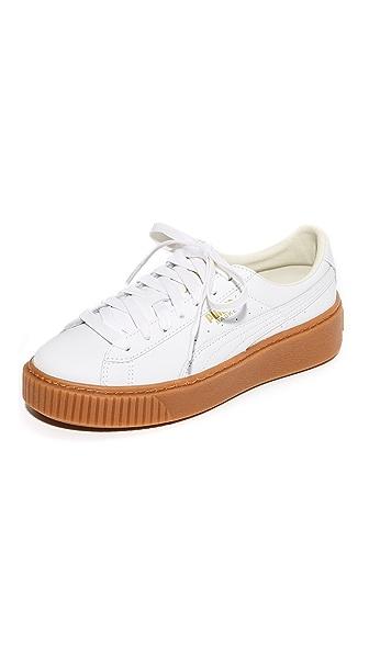 PUMA Basket Platform Core Sneakers - White