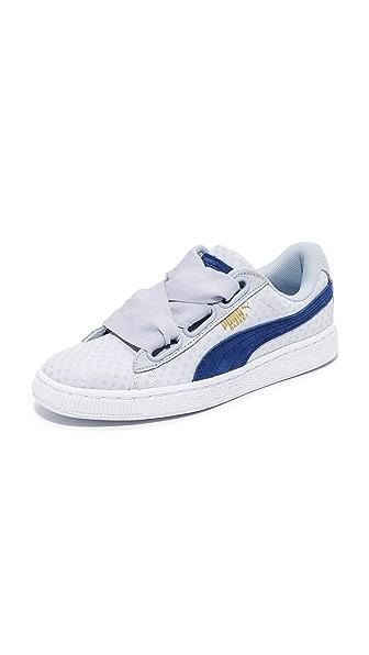 PUMA Basket Heart Denim Sneakers