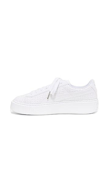 PUMA Basket Platform Woven Sneakers