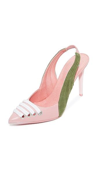 PUMA FENTY x PUMA Slingback Heels - Silver/Pink