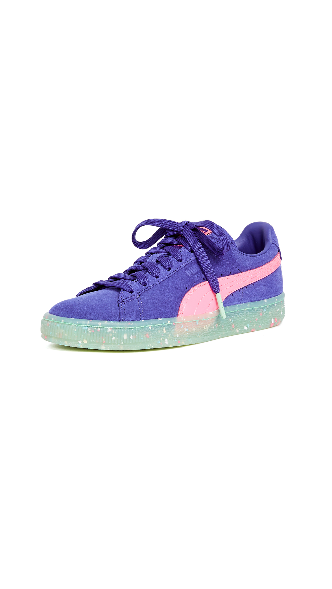 PUMA x SOPHIA WEBSTER Suede Sneakers - Blue/Pink/Green Multi