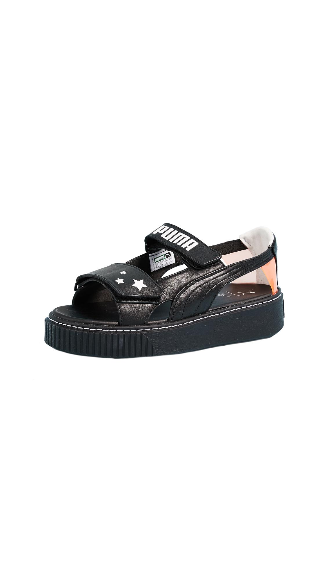 PUMA x SOPHIA WEBSTER Platform Sandals - Black