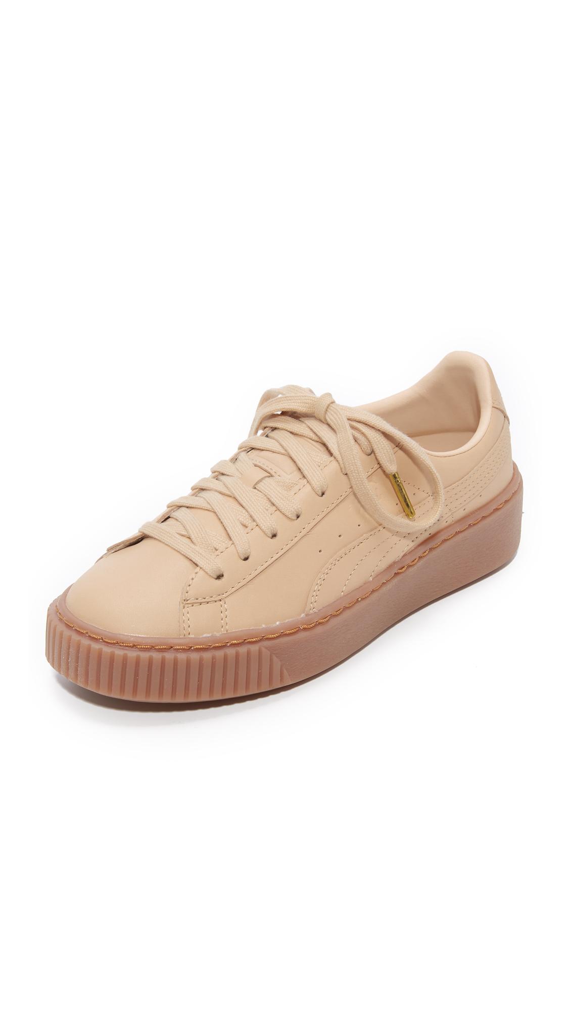 PUMA x NATUREL Platform Sneakers - Natural