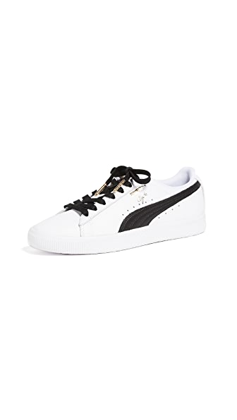 PUMA Clyde Core Sneakers In White/Black